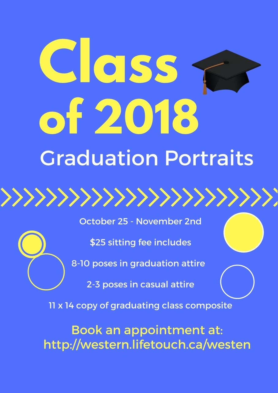 Grad portrait poster