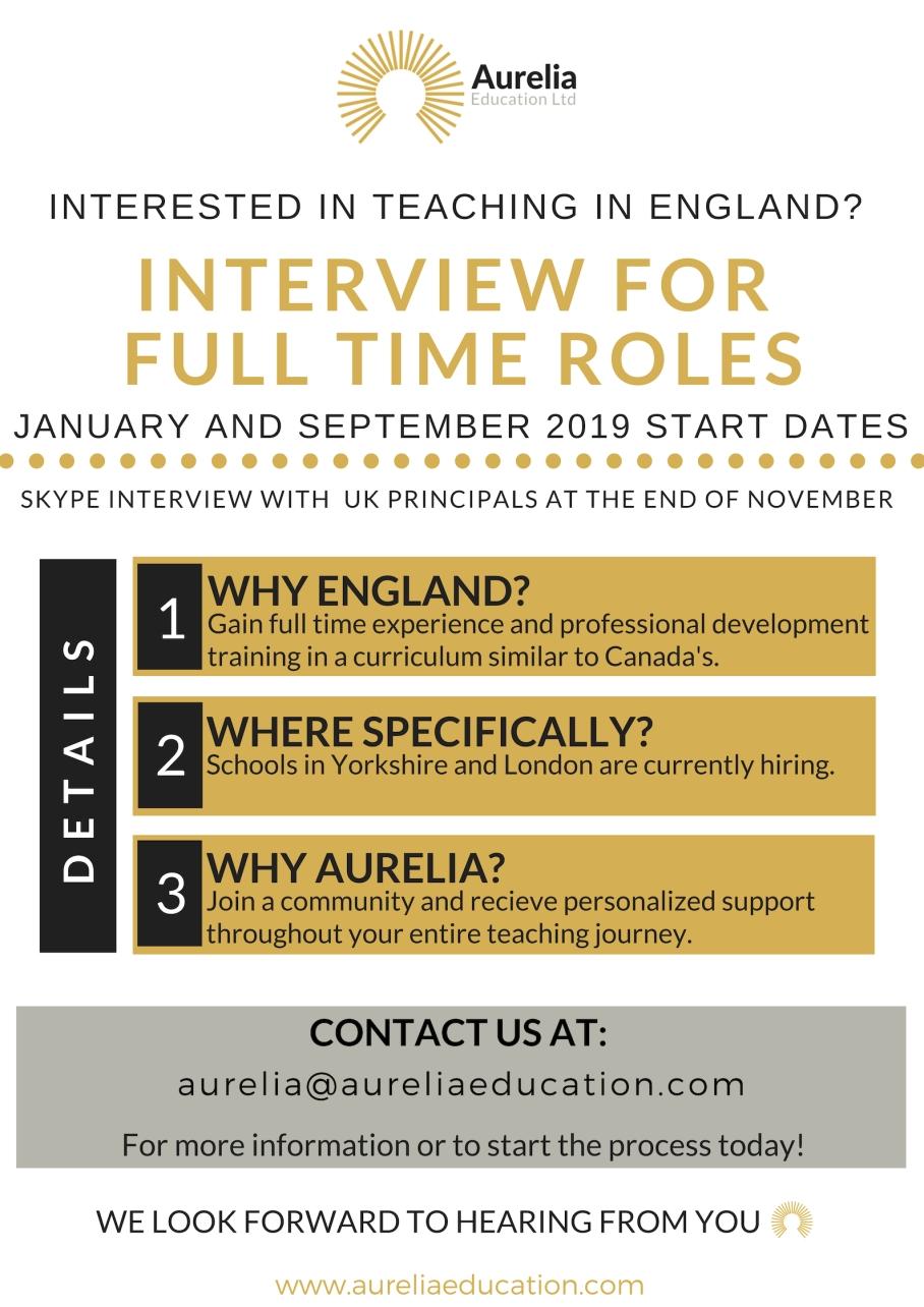 2018-11 Aurelia Job Posting