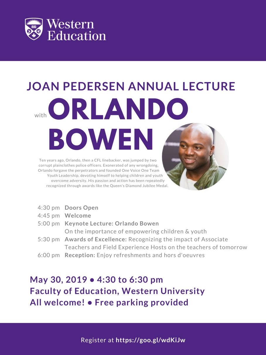 Joan Pedersen Annual Lecture - May2019 - FINAL